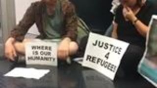 Protest Calling for Refugee Resettlement Forces Newcastle Border Force Office to Close - Video