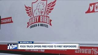 Food truck offers free food for first responders - Video