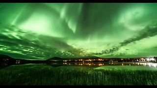 Stunning Northern Lights captured over Lapland - Video