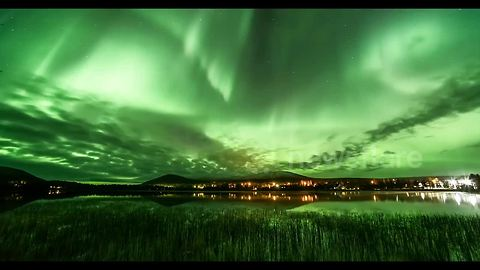 Stunning Northern Lights captured over Lapland