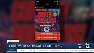 Curfew breakers rally for California to reopen