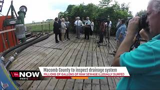 Macomb County to inspect drainage system as raw sewage is dumped - Video