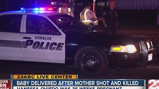 Baby delivered by emergency C-section after mother shot and killed - Video