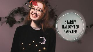 You'll be beaming in this Halloween sweater creation - Video