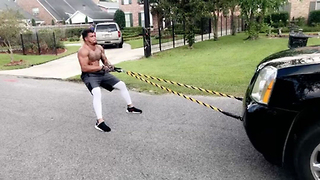 Falcons Rookie Duke Riley Pulls a F***ing SUV as His Workout - Video