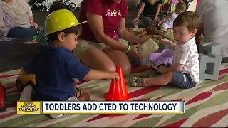 Toddlers and technology: Experts say their brains need to 'breathe' - Video