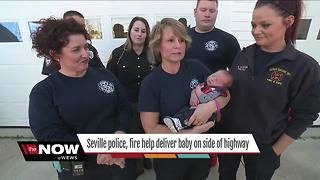 Seville first responders help deliver baby boy on the side of a highway - Video