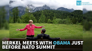 Merkel Meets With Obama Just Before Nato Summit - Video