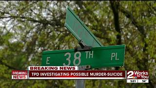 Police investigate murder suicide in East Tulsa - Video