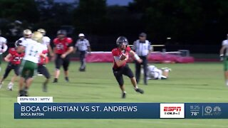 St Andrew's beats Boca Christian in spring game action