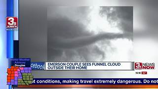 Emerson couple watched funnel cloud unfold outside their home