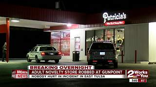 Patricia's store robbed at gunpoint in East Tulsa - Video