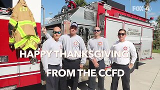 Cape Coral Fire Department wishing you a Happy Thanksgiving