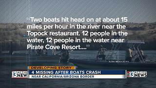 4 people missing after boats collide