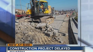 Major construction project delayed after crash in Waukesha - Video