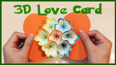 DIY blooming flower pop-up card