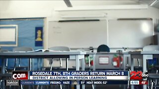 Rosedale Union School District middle school students return date pushed back