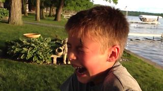 Brave Boy Lets Bug Crawl All Over His Face - Video
