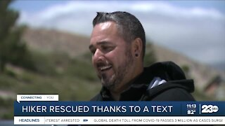 Lost hiker found safe after community identifies location in photo he sent a friend