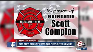 Memorial stickers will benefit family of fallen Greenfield firefighter