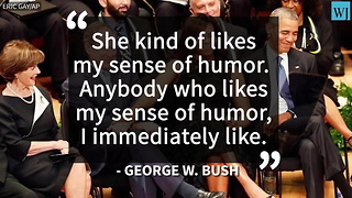 George W. Bush Identifies His New BFF - Video