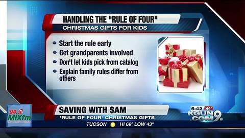 Four Gift Rule for kids this Christmas