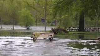 Toronto Islands Swamped as Lake Ontario Reaches Heights - Video