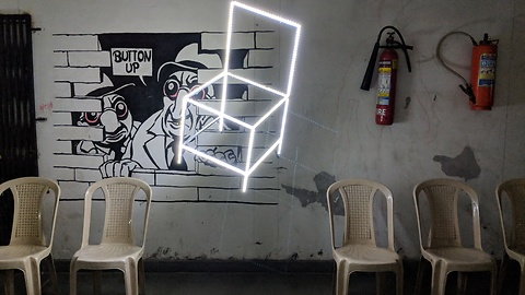Students make dazzling LED chair art