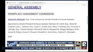 Maryland lawmakers name members of sexual harassment panel - Video