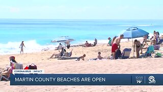 Martin County beaches reopen Monday morning