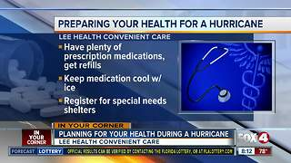 Planning for your health during a hurricane - Video