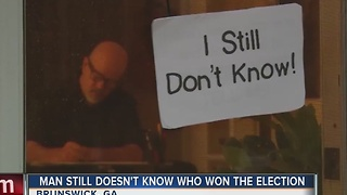 Man still doesn't know who won the election - Video