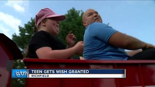 Richfield teen with rare genetic condition gets her wish granted - Video