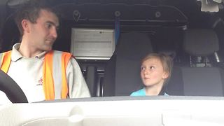 Epic father & daughter dance off in the car - Who's the winner? - Video