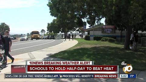Schools to hold half-day to beat heat