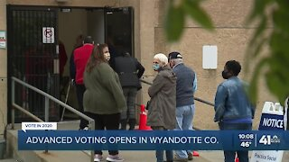 Early voting began Tuesday in Wyandotte County