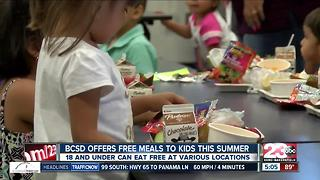 Free Summer meals are being offered to kids in Kern County - Video