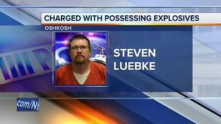 Man charged for having improvised explosives in Oshkosh apartment - Video