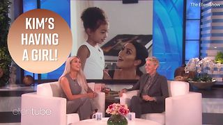 Kim K lets it slip that she's having a baby girl - Video