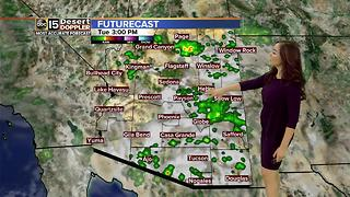 Best chance of monsoon storm activity today - Video