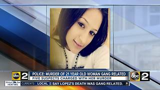 Anne Arundel Police: Murder of 21 year old woman gang related - Video