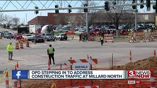OPD stepping in to address construction traffic at near Millard North High School - Video