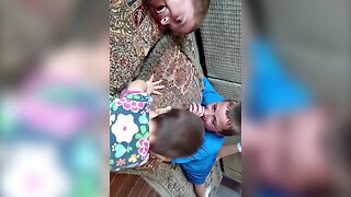 Aww – Big Brothers Try to Teach Baby Sister How to Nap