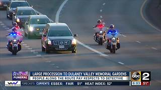 Thousands of officers in Detective Suiter's funeral procession - Video