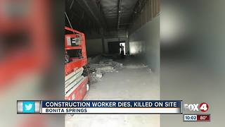 Man killed in construction accident in Bonita Springs - Video