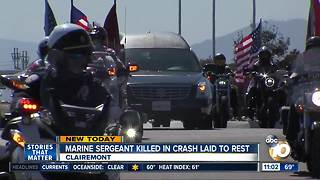 Marine Sergeant killed in crash laid to rest