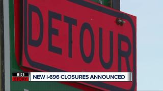 Westbound I-696 to close in Oakland County this weekend