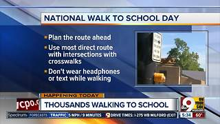How to stay safe on National Walk to School Day - Video