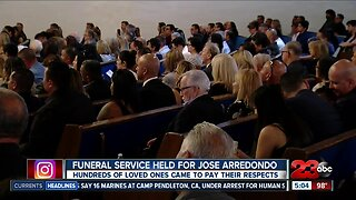 Funeral service held for Jose Arredondo