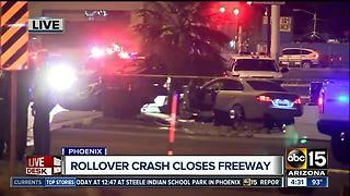 Rollover crash impacts traffic at Interstate 17/Glendale - Video